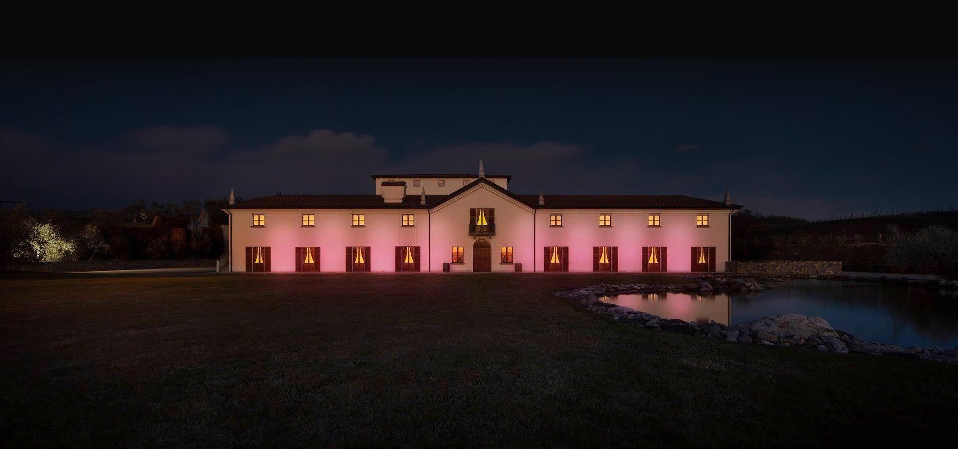 Villa Crespia al tramonto